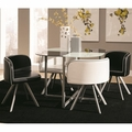 Black Glass Dining Table and Chair Set