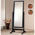 Black Wood Floor Mirror