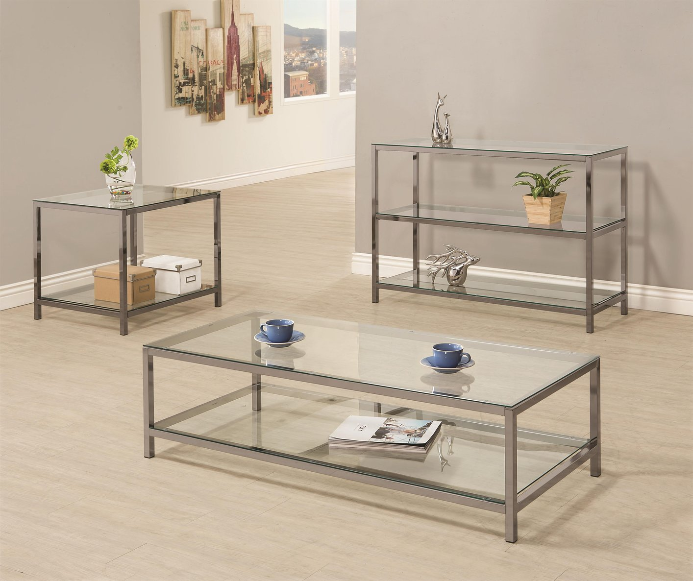 Glass Sofa Table black glass sofa table - steal-a-sofa furniture outlet los angeles ca