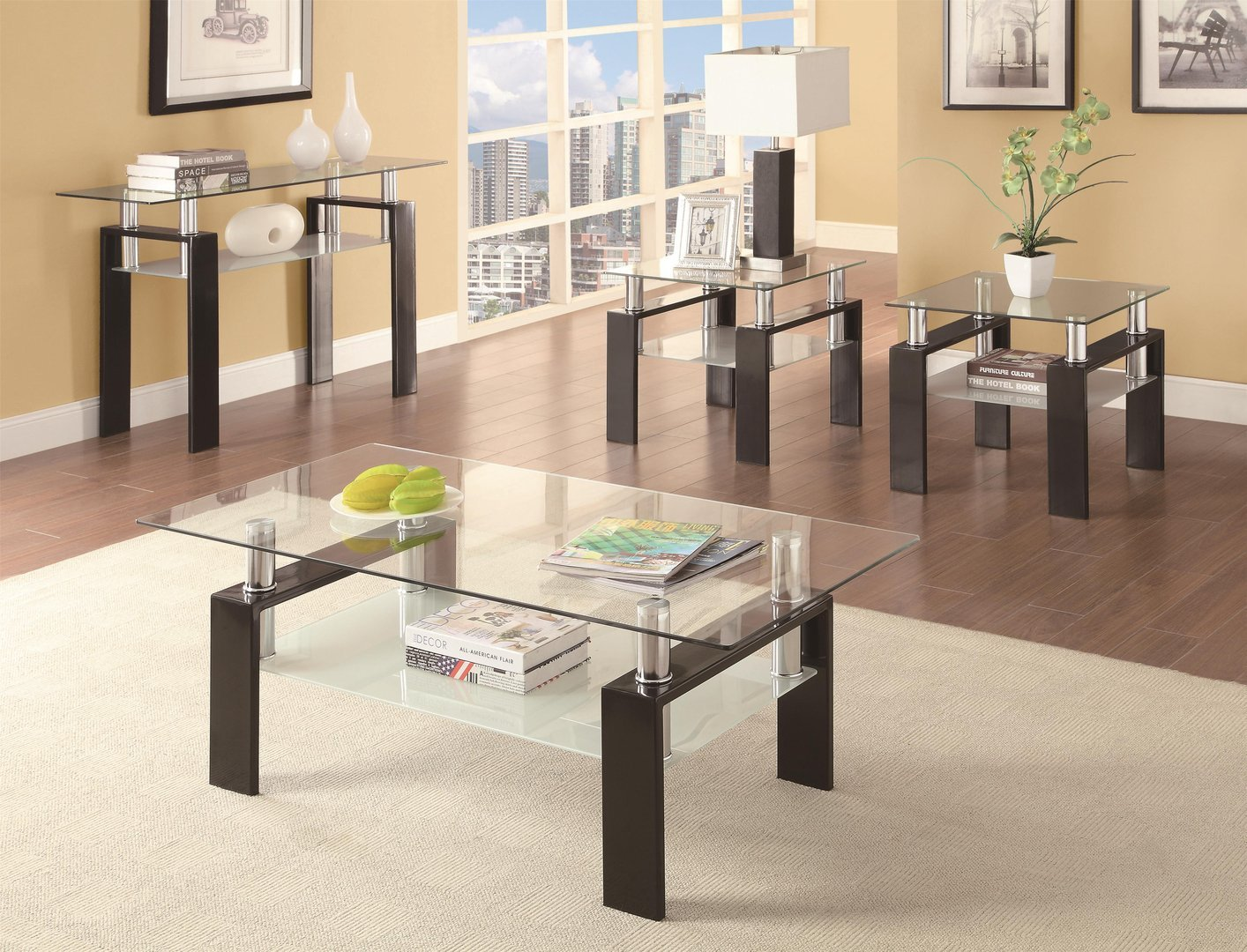 Black Glass Sofa Table Black Glass Sofa Table ...