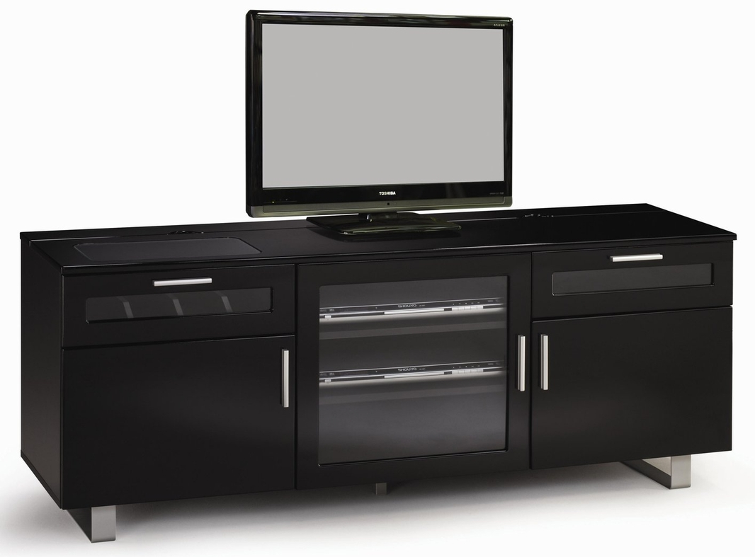coaster 700672 black glass tv stand steal a sofa furniture outlet los angeles ca. Black Bedroom Furniture Sets. Home Design Ideas