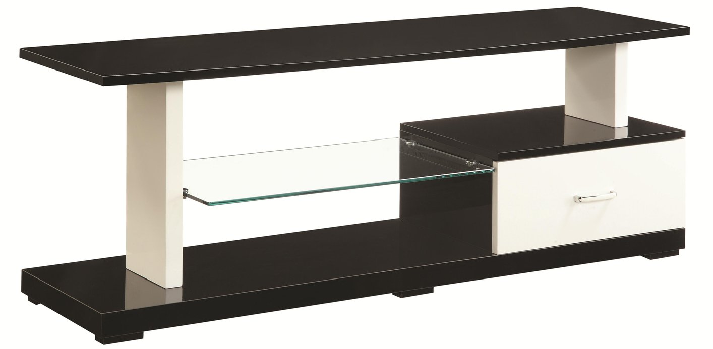 Coaster 700734 Black Glass Tv Stand Steal A Sofa