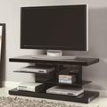 Black Glass TV Stand