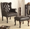 Black Leather Accent Chair