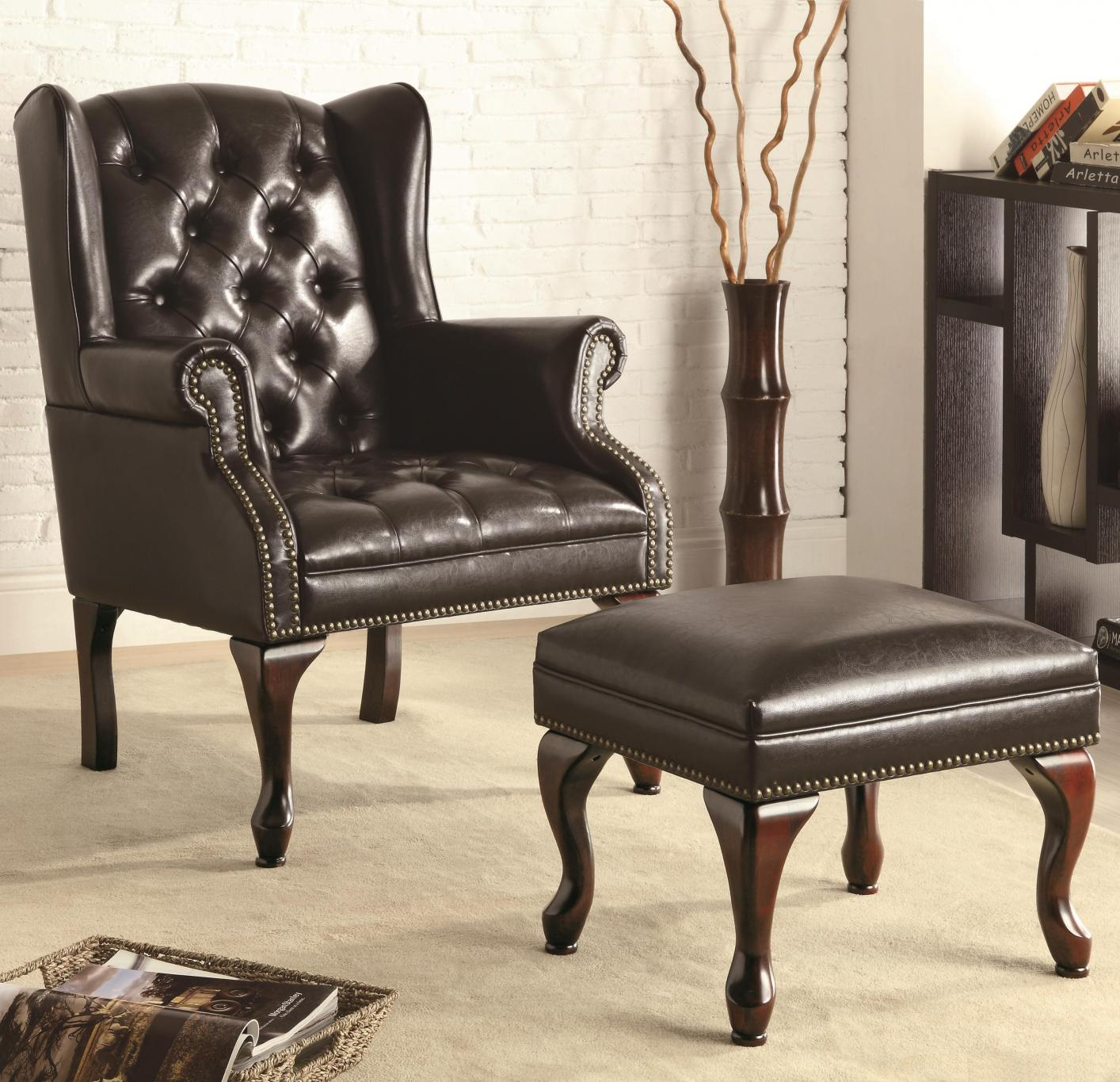 Black Leather Accent Chair Steal A Sofa Furniture Outlet Los