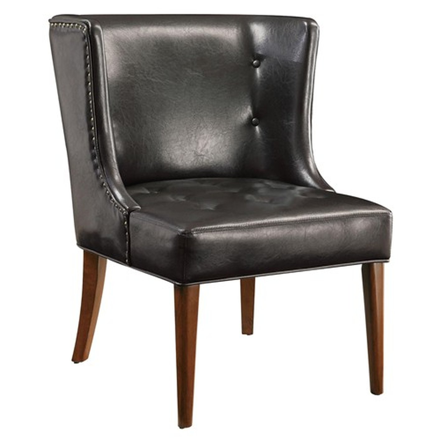 black leather occasional chair black leather accent chair steal a sofa furniture outlet 11215 | black leather accent chair 33