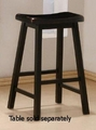 Black Wood Bar Stool