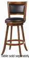 Brown Wood Bar Stool