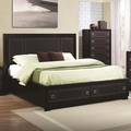 Black Wood Bed