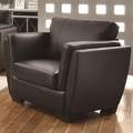 Lois Black Leather Chair