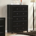 Black Leather Chest of Drawers