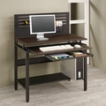 Black Leather Computer Desk