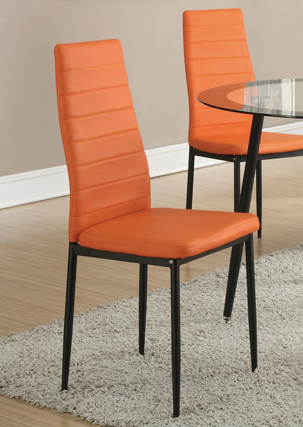 Orange Metal Dining Chair Steal A Sofa Furniture Outlet Los Angeles Ca