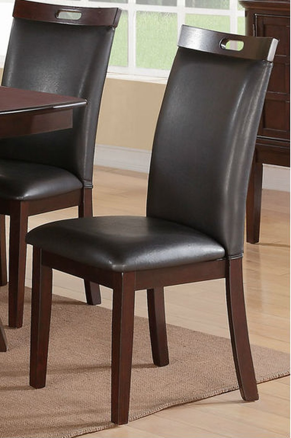Black Leather And Wood Dining Chairs Dining Room Ideas