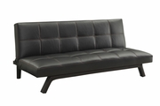 Black Leather Full Size Sofa Bed