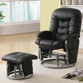 Black Leather Glider