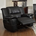 Black Leather Glider Recliner