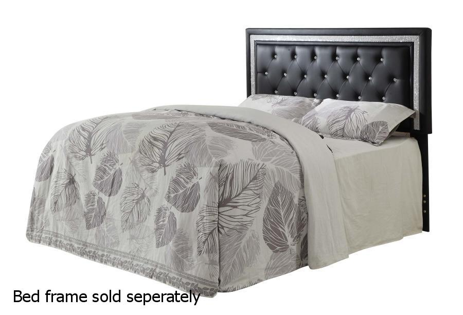 a7c870aef50d Black Leather California or Eastern King Size Headboard - Steal-A-Sofa  Furniture Outlet Los Angeles CA