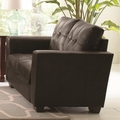 Enright Black Leather Loveseat