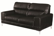 Benjamin Black Leather Loveseat