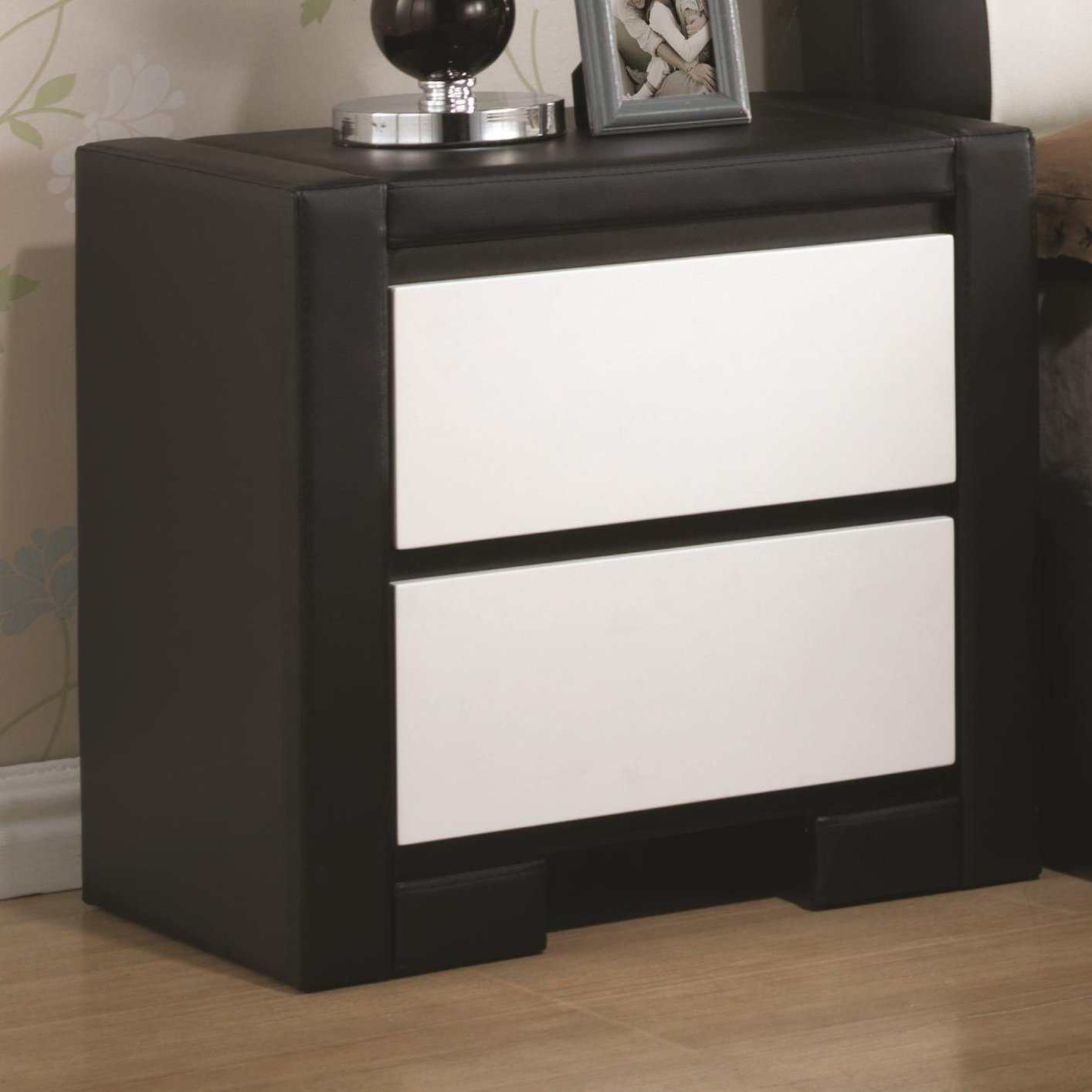 Black Leather Nightstand Steal A Sofa Furniture Outlet Los