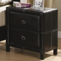 Black Leather Nightstand