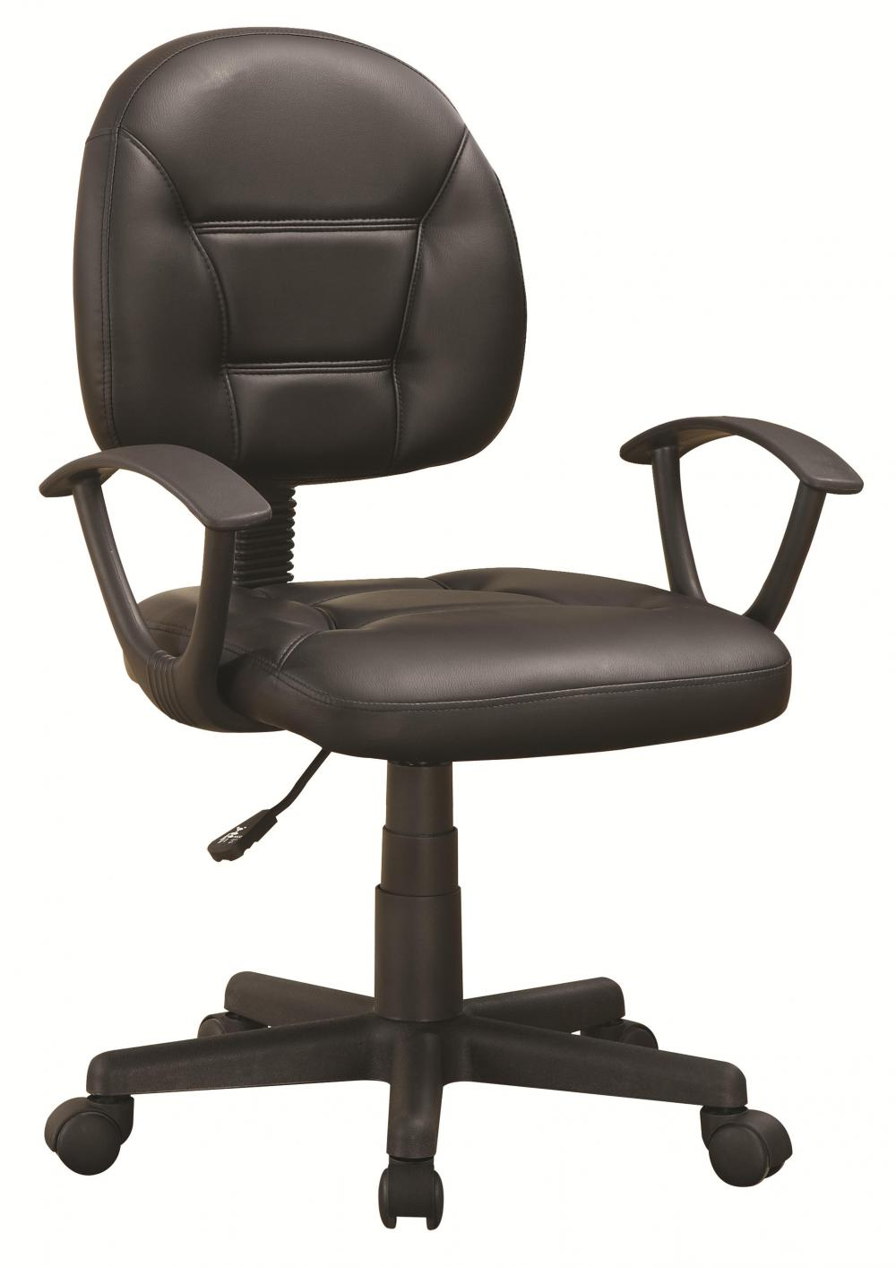 Black Leather Office Chair Steal A Sofa Furniture Outlet