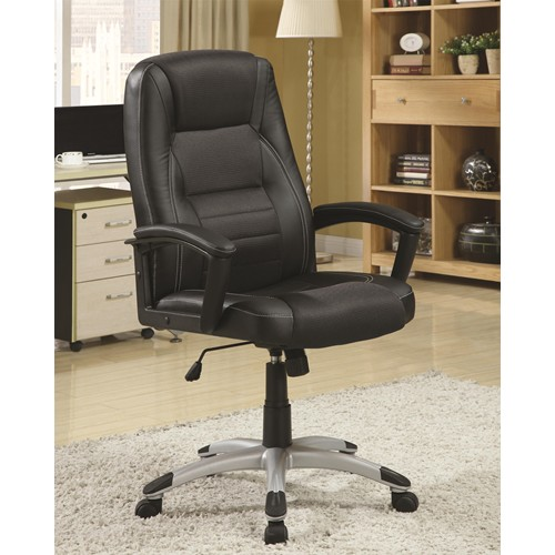 Black Leather Sofa Office: Steal-A-Sofa Furniture Outlet