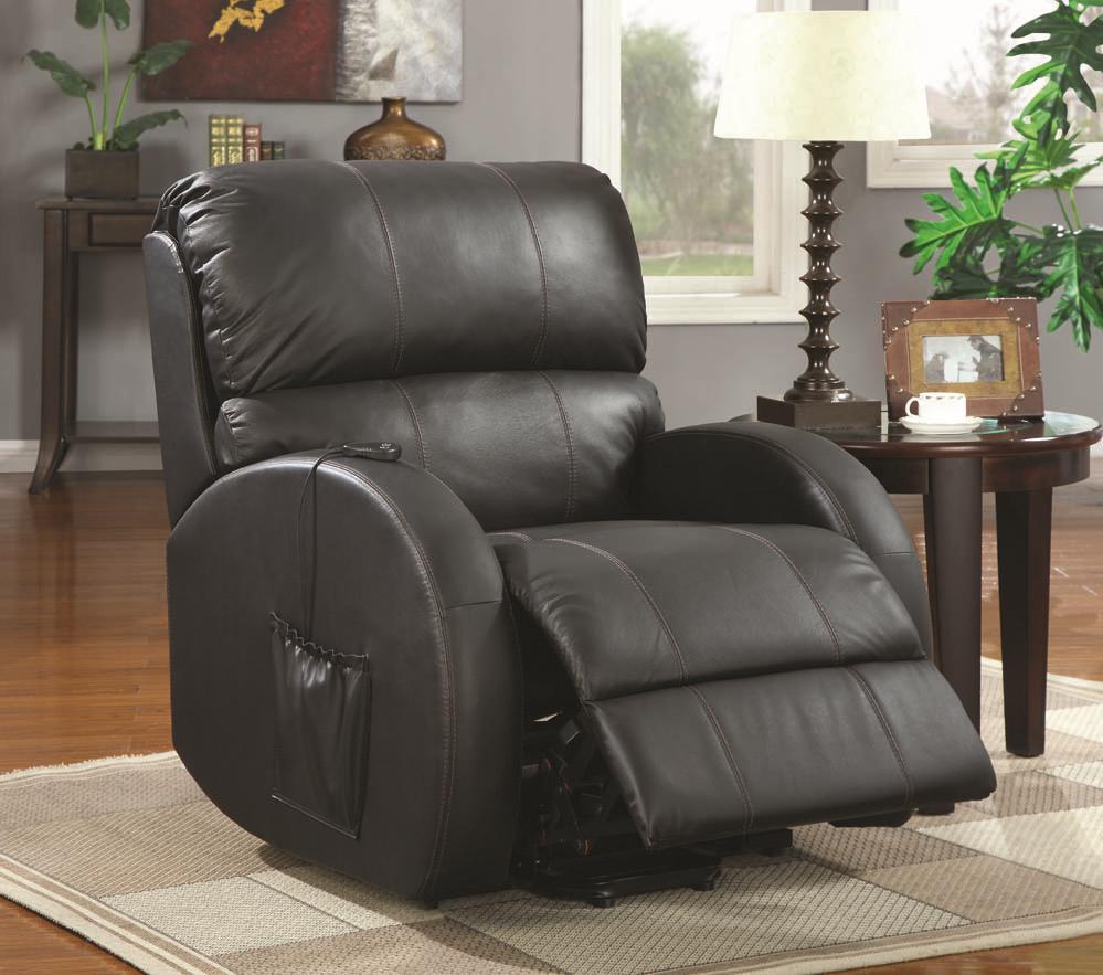 Black Leather Power Reclining Chair Steal A Sofa