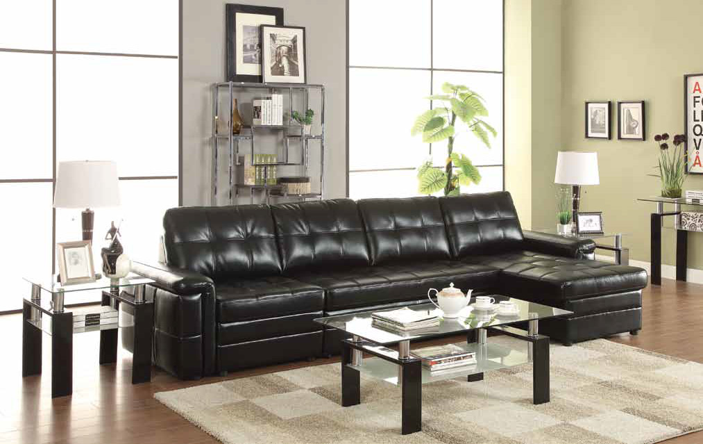 Black Leather Sectional Sleeper Sofa Steal A Sofa Furniture Outlet Los Angeles Ca