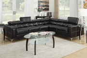 Black Metal Sectional Sofa