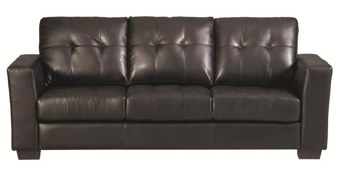 Black Leather Sofa - Steal-A-Sofa Furniture Outlet Los Angeles CA