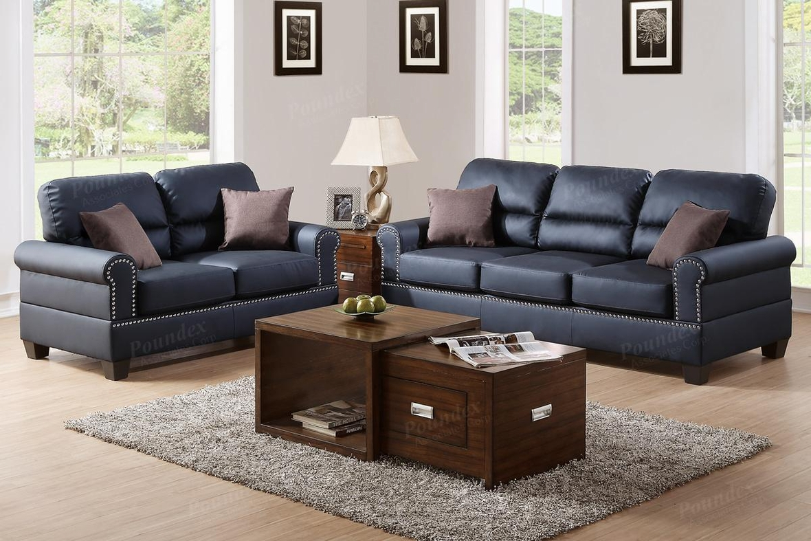 Black leather sofa and loveseat set steal a sofa for Leather sofa and loveseat set