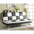 Black Leather Sofa Bed