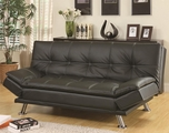 Dilleston Black Leather Sofa Bed