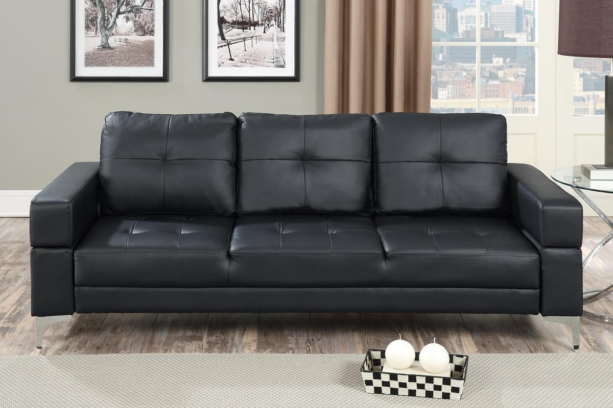 Black Leather Sofa Bed Steal A Sofa Furniture Outlet Los
