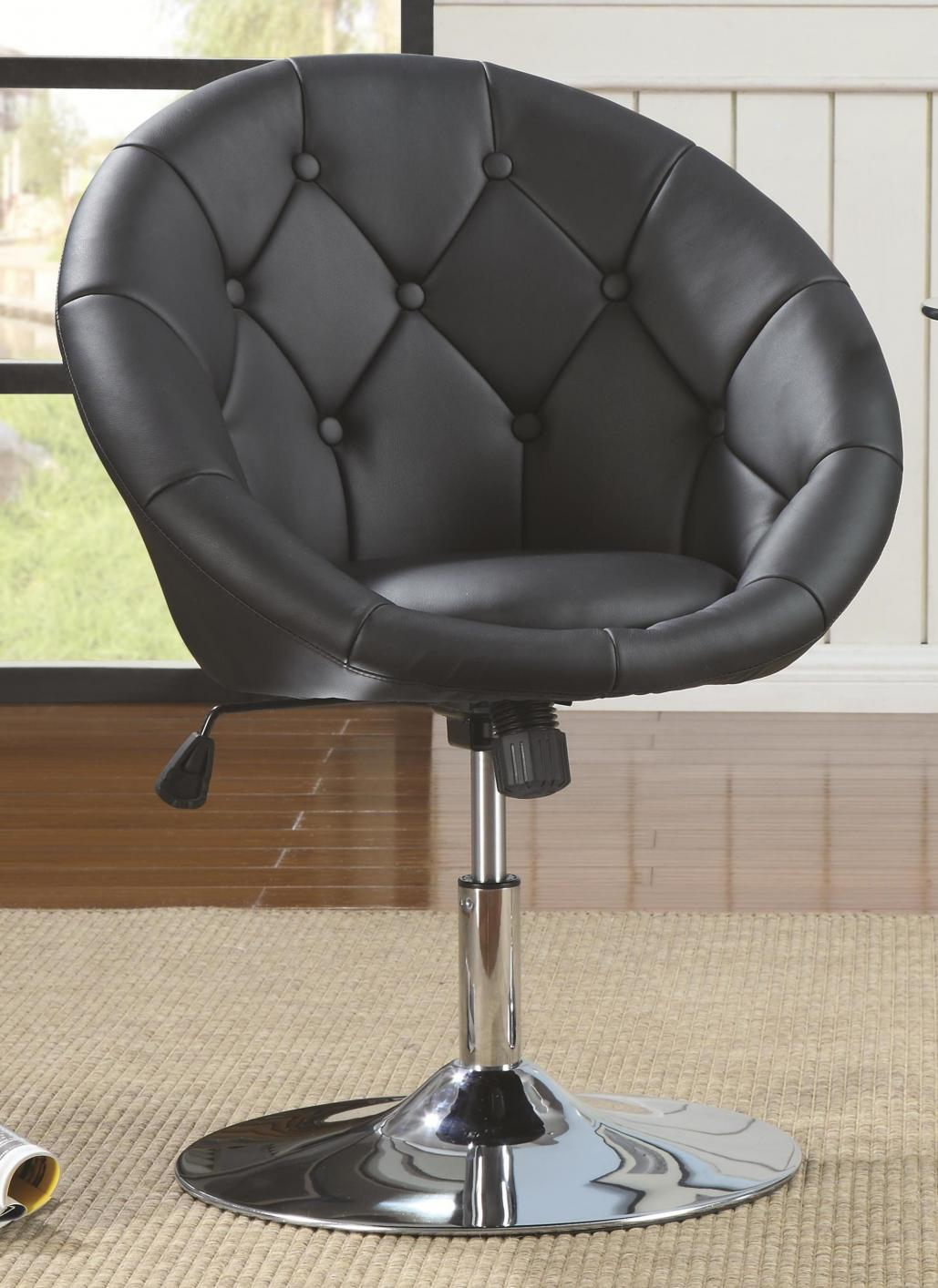 Superieur Black Metal Swivel Chair