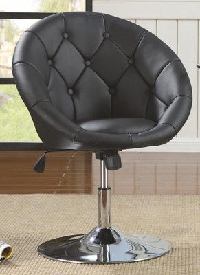 Black Metal Swivel Chair