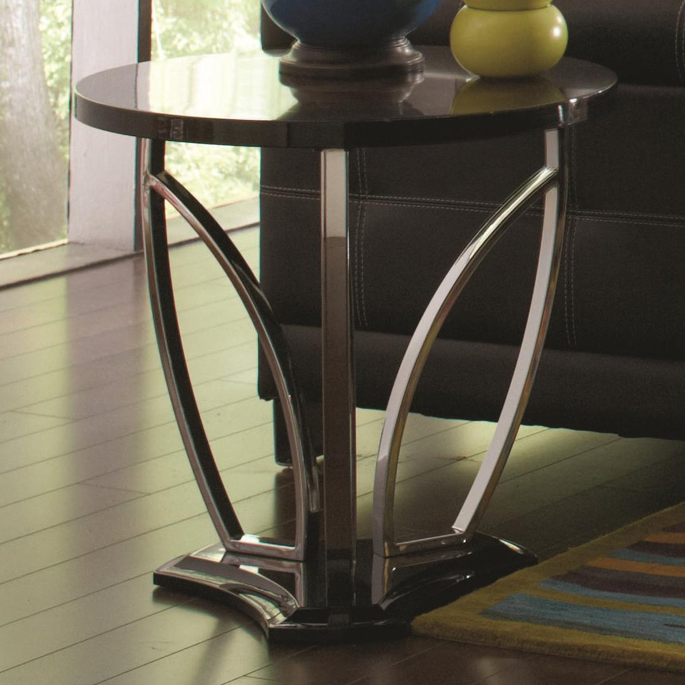 Coaster 702327 Black Marble End Table Steal A Sofa Furniture Outlet Los Angeles Ca