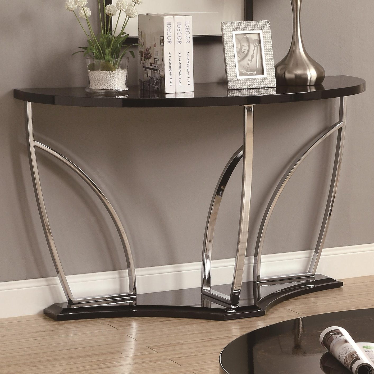 Silver Metal Sofa Table Steal A Sofa Furniture Outlet