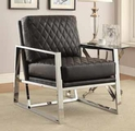 Black Metal Accent Chair