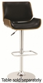 Silver Wood Bar Stool