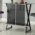 Black Metal Bar Table