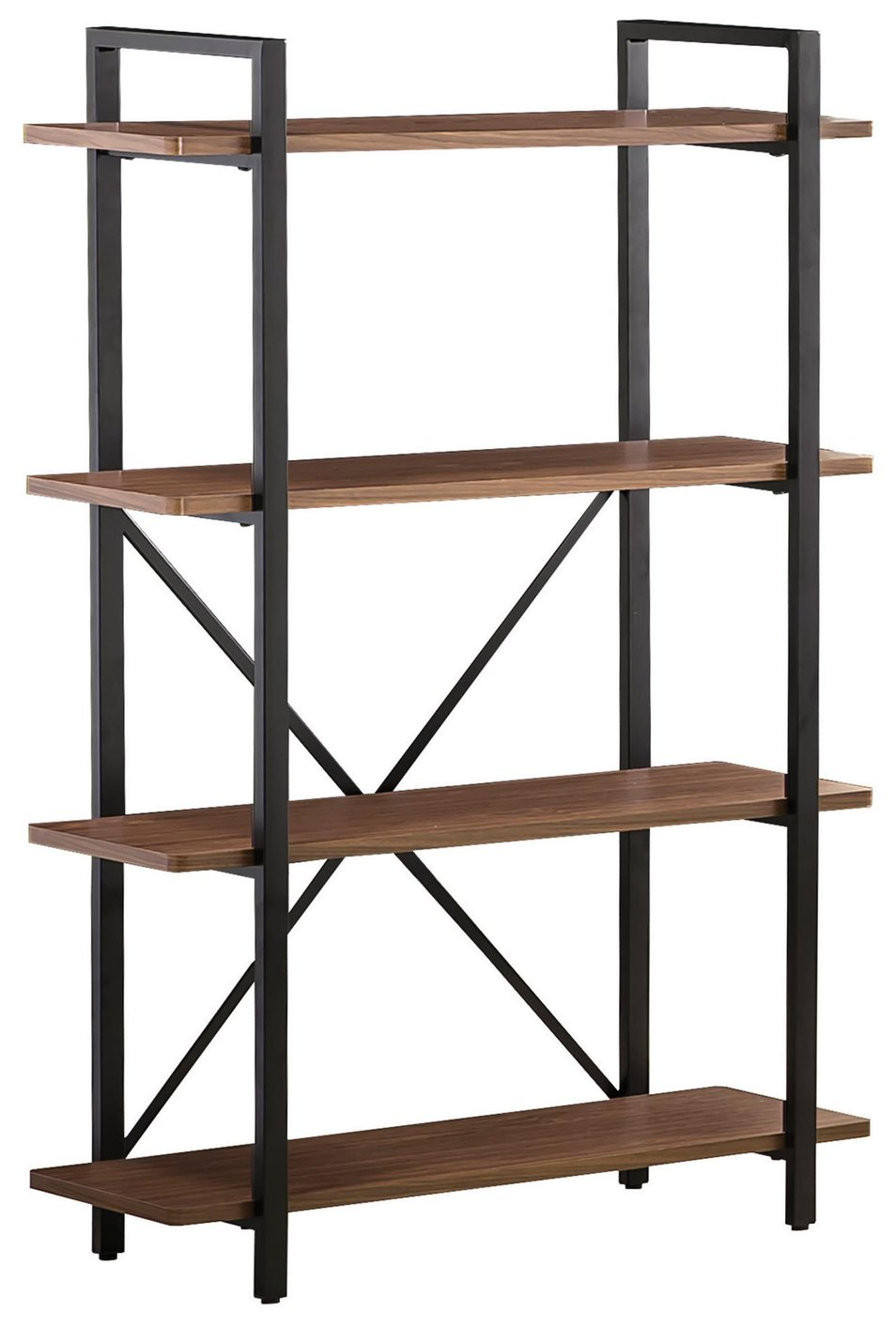 Black Metal Bookcase Steal A Sofa Furniture Outlet Los