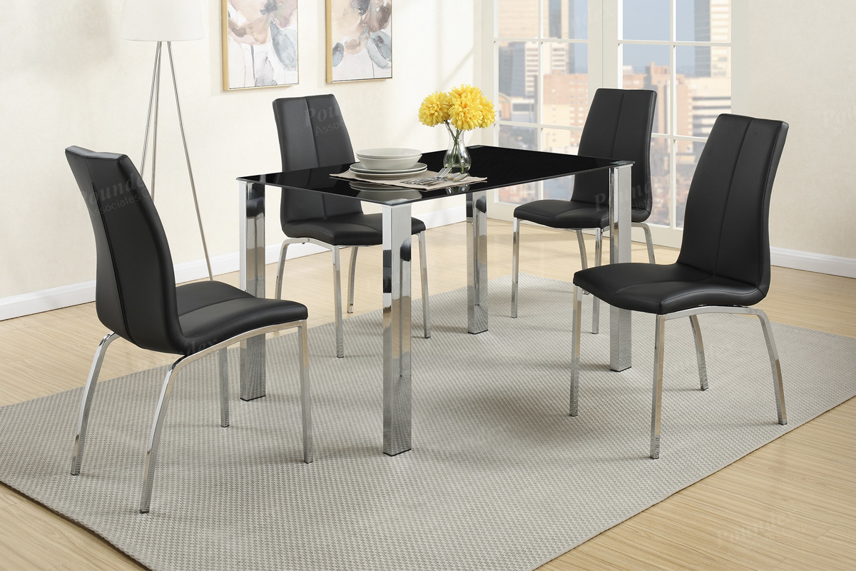 Black Metal Dining Table and Chair Set. Black Metal Dining Table and Chair Set   Steal A Sofa Furniture