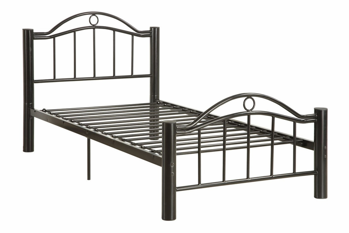 black metal full size bed - Metal Frame Twin Bed