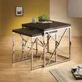 Silver Metal Nesting Table
