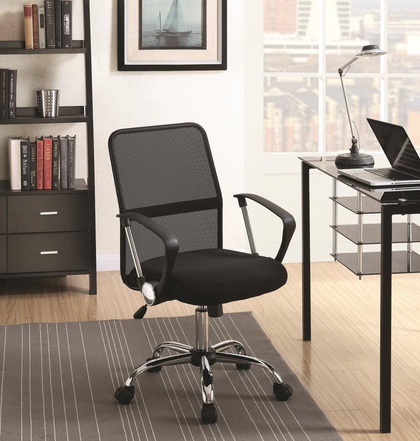 Black Metal Office Chair Steal A Sofa Furniture Outlet