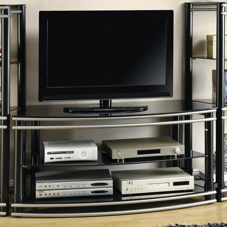 New Black Metal TV Stand - Steal-A-Sofa Furniture Outlet Los Angeles CA LR83