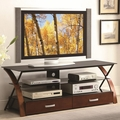 Black Metal TV Stand